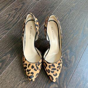 Anne Klein Leopard Calf Hair d'Orsay Heels 8.5M